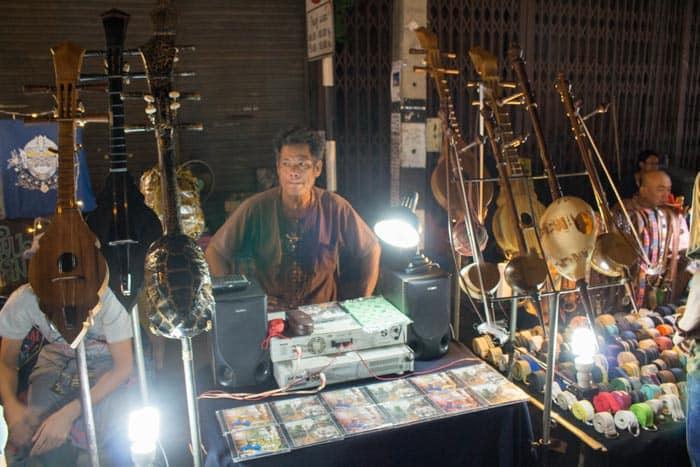 Saturday walking street Chiang Mai instruments