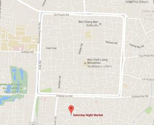Saturday walking street chiang mai map
