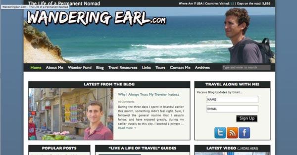 Top 10 Travel Blogs of 2016 - Wandering Earl Derek Earl Baron
