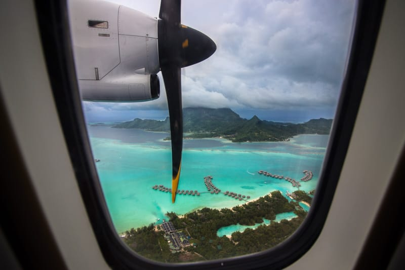 Bora Bora Overwater Bungalows Plane