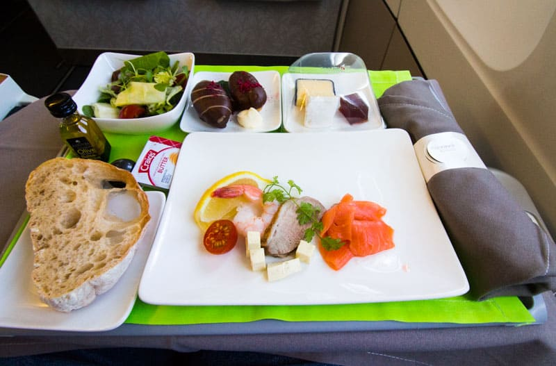 Flying Air Tahiti Nui Meals