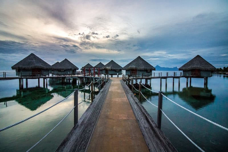 The Islands of Tahiti Water Bungalows