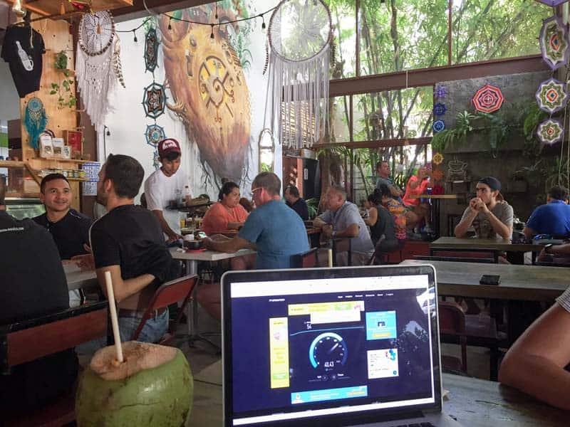 chou chou cafe playa del carmen, digital nomad cafes playa del carmen