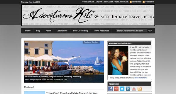 Top 10 Travel Blogs of 2016 - Adventurous Kate