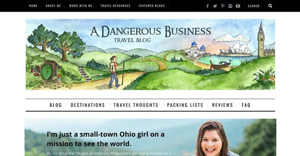 Top 10 Travel Blogs of 2016 - A Dangerous Business