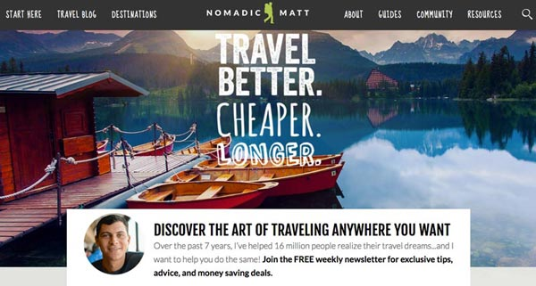 Top 10 Travel Blogs of 2016 - Nomadic Matt