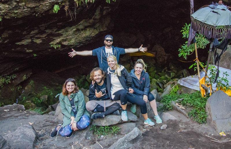 Bali Indonesia Mt Batur Volcano Cave Crew