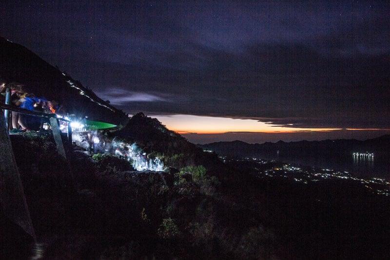 Bali Indonesia Mt Batur Volcano Trekking Darkness
