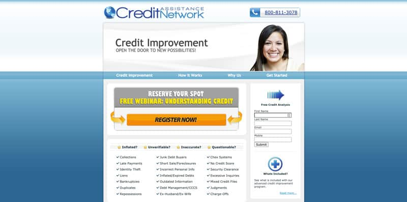 Credit Assistance Network credit card affiliate program